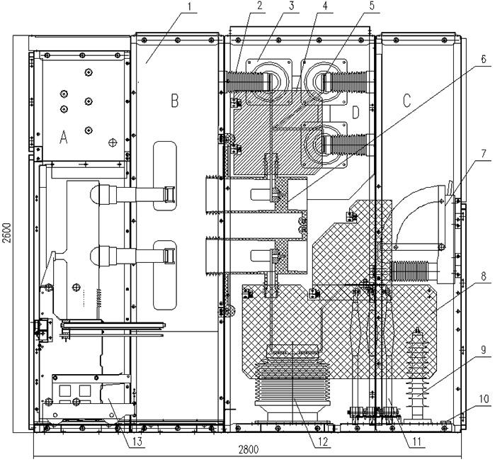 kyn28高压开关柜电气接线图